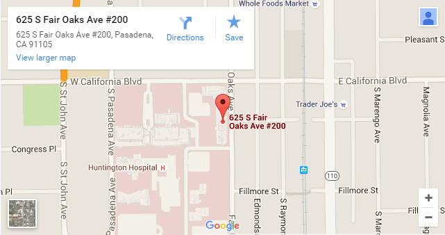Comprehensive_Dermatology_Center_Pasadena_map